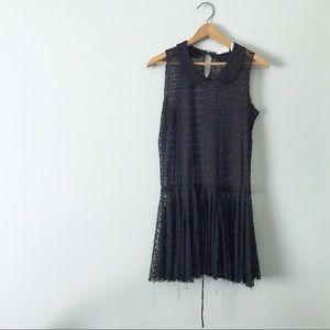 Free People Black Floral Lace Dress Drop Waist